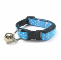 Short Turquoise Spotty Kitten Cat Collar