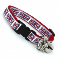 Short Union Jack Cat Kitten Collar