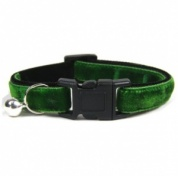 Velvet Kitten Collar | Small & Soft | Green