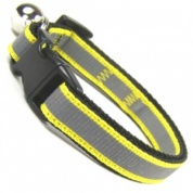 Yellow Stripe Reflective Cat Collar