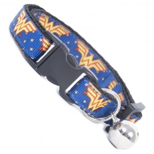 Extra Long Wonder Woman Cool Cat Collar
