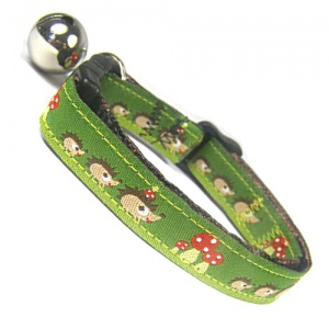 Woodland Wildlife Cat Collar | Hedgehog