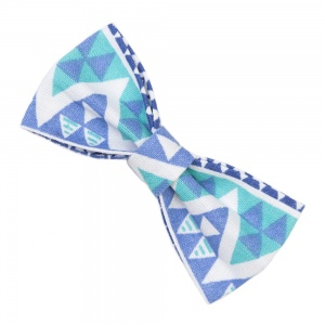 Blue Tribal Bow Tie