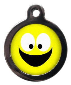 Smiley Face Cat ID Tag