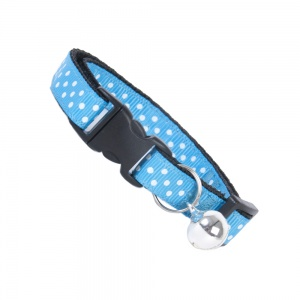 Blue Dinky Dots Cat Safety Collar