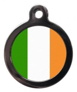 Irish Flag Cat ID Tag