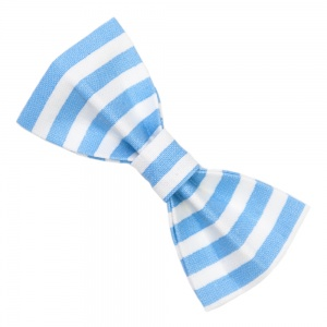 Light Blue Stripe Bow Tie