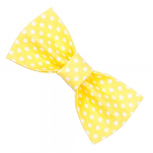 Yellow Spotty Bow Tie