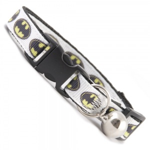 White Batman Cat Collar