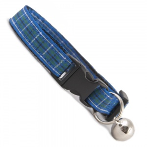 Blue Tartan Cat Collar