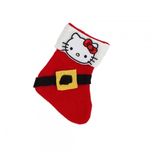 Kitty Little Christmas Cat Stocking | Santas Belt