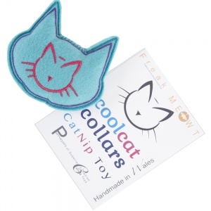 Blue Cat Shaped Pillow Catnip Toy