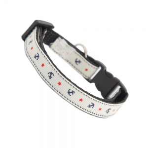 Anchors Away Cat Safety Collar - White