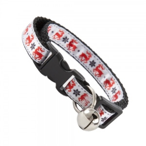 Festive Christmas Deer Cat Collar