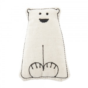 Polar Bear Catnip Pillow Cat Toy