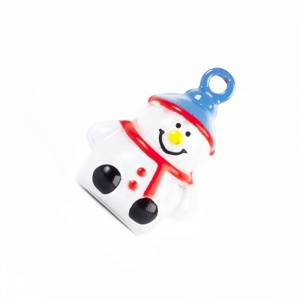 Snowman  Bell for Cat Collar
