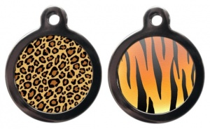 Animal Print Cat ID Tag