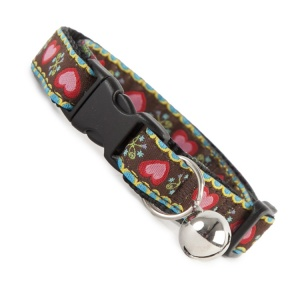 Floral Burst Cool Cat Collar - Brown