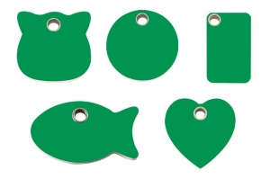 Green Plastic Engraved Cat Tags by Red Dingo