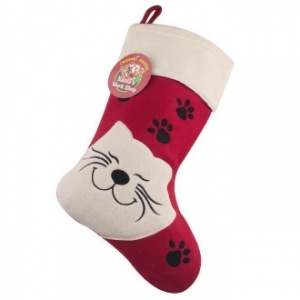 Luxury Happy Cat Christmas Stocking for Cats