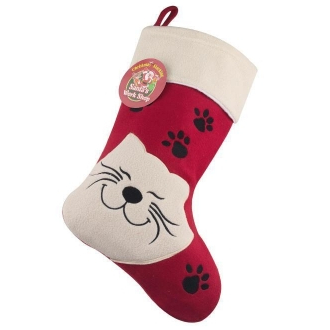 Cat Christmas Stockings.Luxury Happy Cat Christmas Stocking For Cats