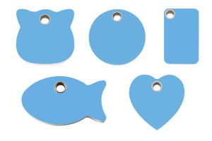 Light  Blue Plastic Engraved Cat Tags by Red Dingo
