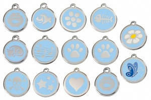 Light Blue Engraved Cat ID Tags