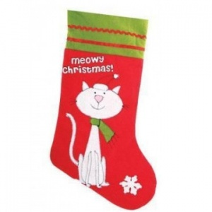 Meowy Christmas Stocking for Cats