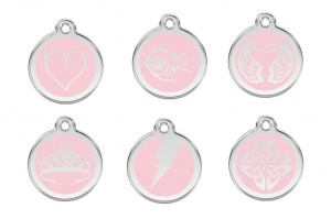 New Red Dingo Cat Tags - Pink