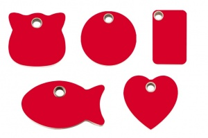 Red Plastic Engraved Cat Tags by Red Dingo