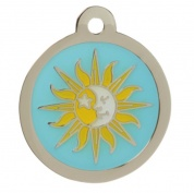 Sun Moon Cat Tag Engraved