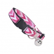 Pink Chevron Cat Safety Collar