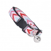 Multi Colour Chevron Cat Safety Collar
