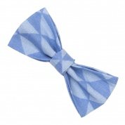 Blue Triangle Bow Tie