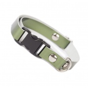 Olive Green Metallic Luxury Leather Cat Collar