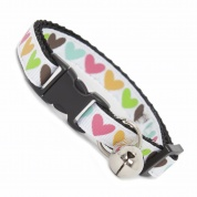 Multi Colour Hearts Cat Collar