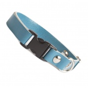 Spearmint Blue Luxury Leather Cat Collar