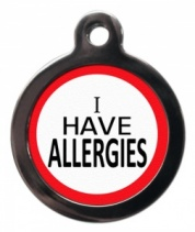 Allergies Alert Cat ID Tag