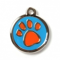 Colourful Paw Designer Cat Tag