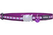Purple Fish Reflective Cat Collar by Red Dingo