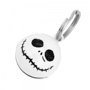 White Skull Bell for Cat Collar
