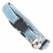 Baby Blue Velvet Cool Cat Collar