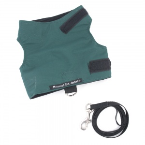 Green Escape Proof Cat Harness and Lead