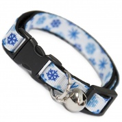 Blue Snowflake Christmas Cat Collar