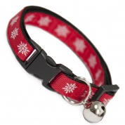 Red Snowflake Christmas Cat Collar