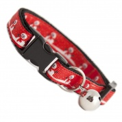 Smiley Snowman Cat Collar Red for Christmas