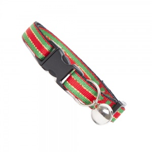 Christmas Stripe Cat Collar