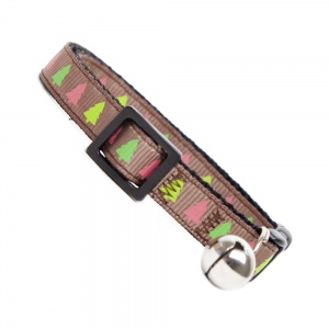 Multi Colour Christmas Trees Cat Collar
