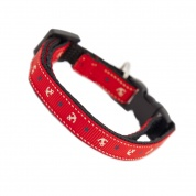 Anchors Away Cat Safety Collar - Red
