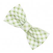 Green Gingham Bow Tie